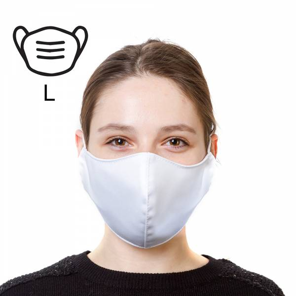 Bavlněná ochranná maska - L, bílá