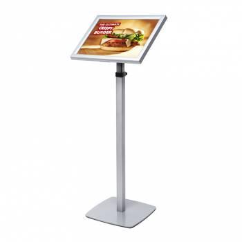 Světelný LED menu stojan - teleskopický A3