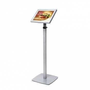 Světelný LED menu stojan - teleskopický A4