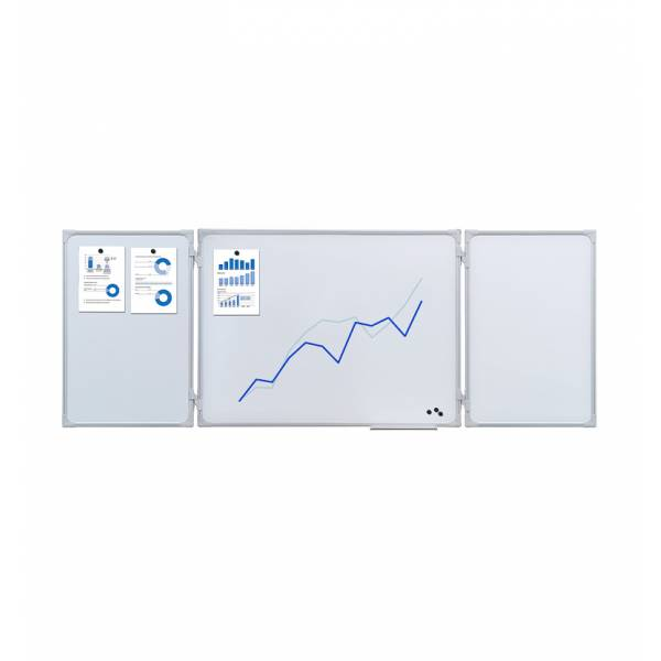 Whiteboard 1500x1000/3000mm, rozkládací multipanel