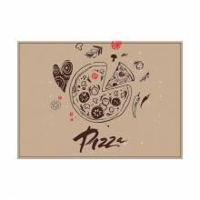 Prostírání Pizza abstraktní - sada 6ks
