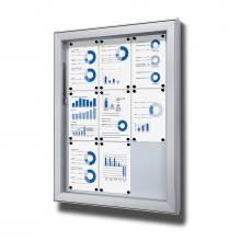 Venkovní vitrína typu L, určená pro 9xA4
