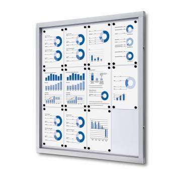 Informační vitrína 12xA4, plechová záda