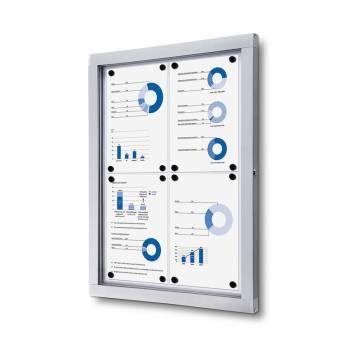 Informační vitrína 4xA4, plechová záda