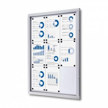 Informační vitrína 9xA4, plechová záda