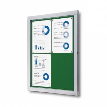 Informační vitrína 4xA4, zelená  textilní záda