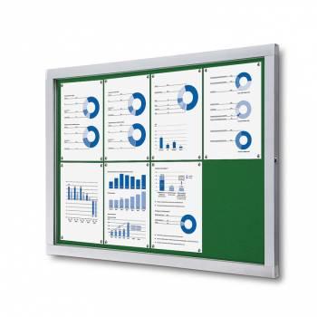 Informační vitrína 8xA4, zelená textilní záda