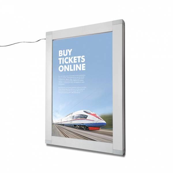 Světelná LED uzamykatelná plakátová vitrína
