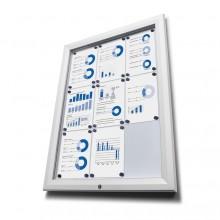 Venkovní vitrína typu T určená pro  9xA4 - barva RAL 9003 bílá