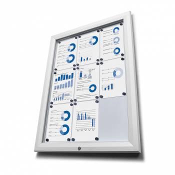 Venkovní vitrína typu T určená pro  27xA4 - barva RAL 9003 bílá