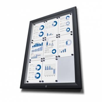 Venkovní vitrína typu T určená pro  6xA4 - barva RAL 9005 černá