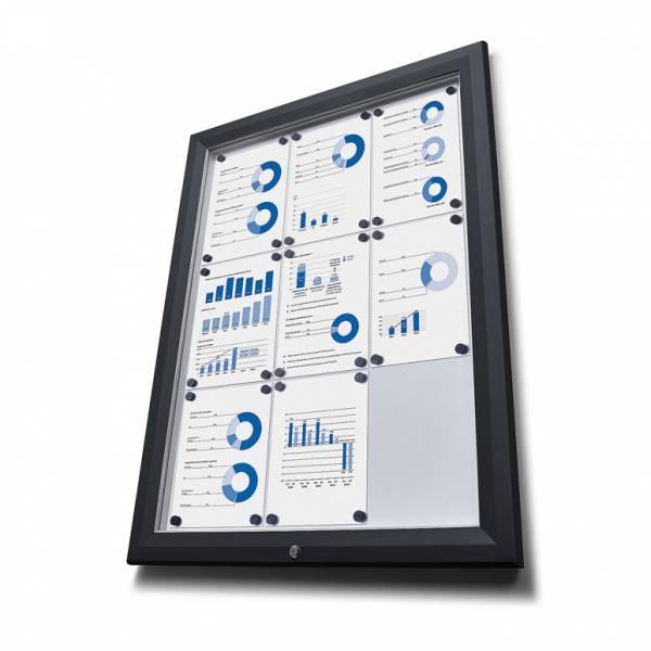 Venkovní vitrína typu T určená pro  12xA4 - barva RAL 9005 černá
