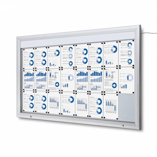 Venkovní vitrína typu T určená pro  24xA4, LED osvětlení