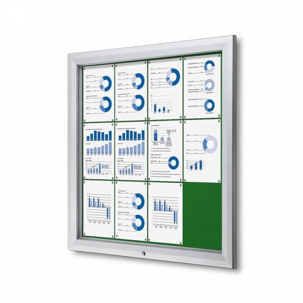 Uzamykatelná informační vitrína SCTF 12xA4 zelená