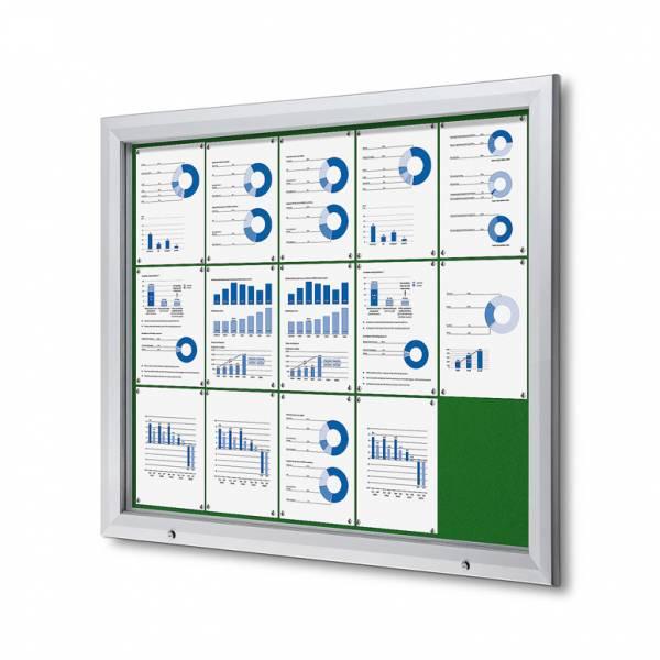 Uzamykatelná informační vitrína SCTF 15xA4 zelená