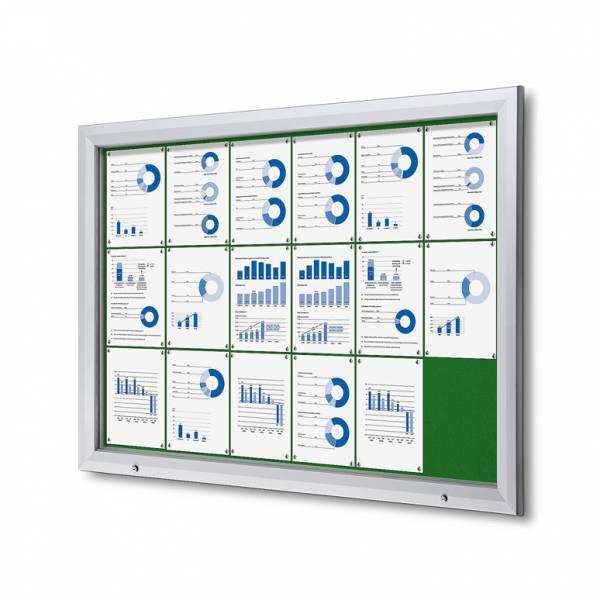 Uzamykatelná informační vitrína SCTF 18xA4 zelená