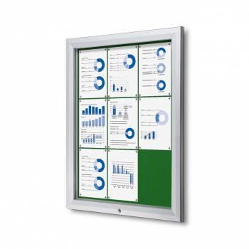 Uzamykatelná informační vitrína SCTF 9xA4 zelená