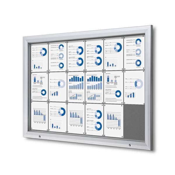 Uzamykatelná informační vitrína SCTF 18xA4 šedá
