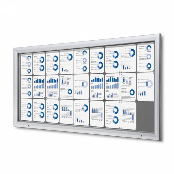 Uzamykatelná informační vitrína SCTF 27xA4 šedá