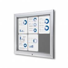 Uzamykatelná informační vitrína SCTF 6xA4 šedá