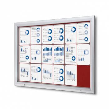 Uzamykatelná informační vitrína SCTF 18xA4 červená