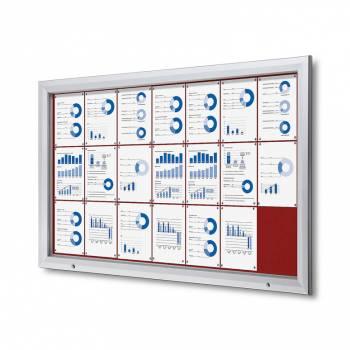 Uzamykatelná informační vitrína SCTF 21xA4 červená