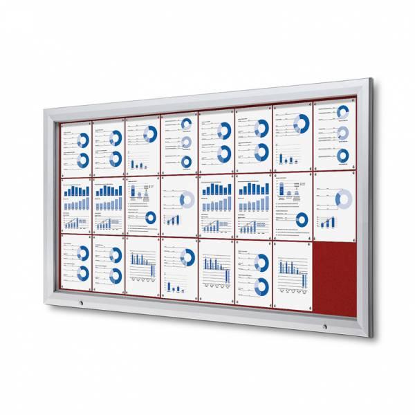 Uzamykatelná informační vitrína SCTF 24xA4 červená