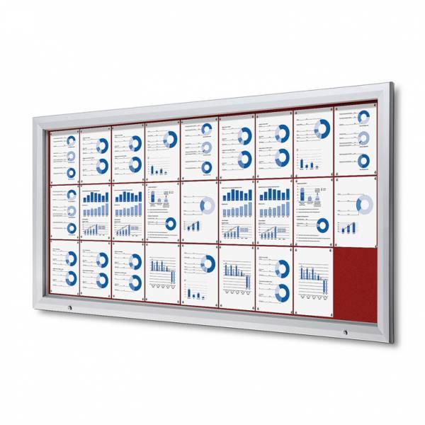 Uzamykatelná informační vitrína SCTF 27xA4 červená