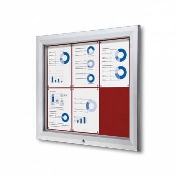 Uzamykatelná informační vitrína SCTF 6xA4 červená