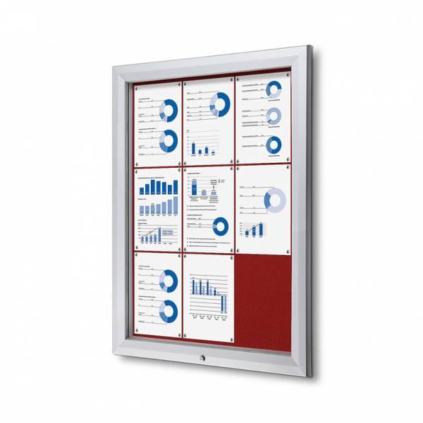 Uzamykatelná informační vitrína SCTF 9xA4 červená
