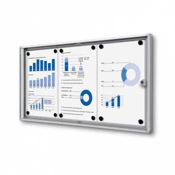 Interiérová vitrína Economy  3xA4 - plechová záda