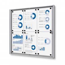 Interiérová vitrína Economy  6xA4 - plechová záda