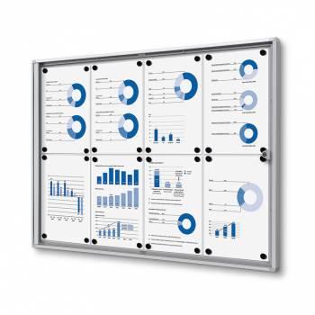 Interiérová vitrína Economy  8xA4 - plechová záda