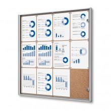 Interiérová vitrína Economy 12xA4 - korková záda
