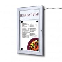 Venkovní uzamykatelná světelná menu vitrína 1xA4