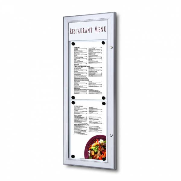 Venkovní uzamykatelná menu vitrína 2xA4 na výšku