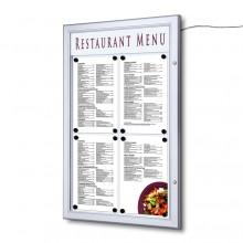 Venkovní uzamykatelná světelná menu vitrína 4xA4
