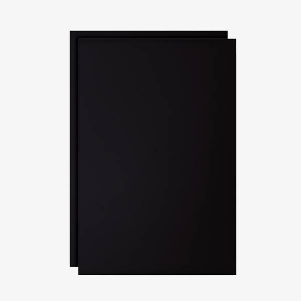 Set dvou černých popisovatelných fólií pro reklamní áčko