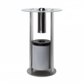 Kuřácký stolek se sklenenou deskou