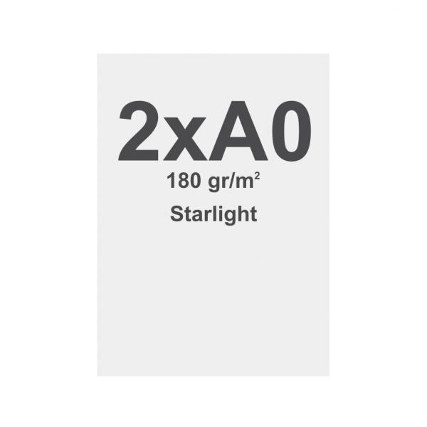 Látka s potiskem 2xA0 - 841x2378mm, pro vypínací textilní rámy , materiál Starlight 180 g/m