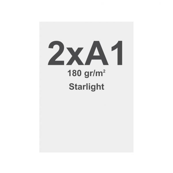 Látka s potiskem 2xA1 - 594x1682mm, pro vypínací textilní rámy , materiál Starlight 180 g/m