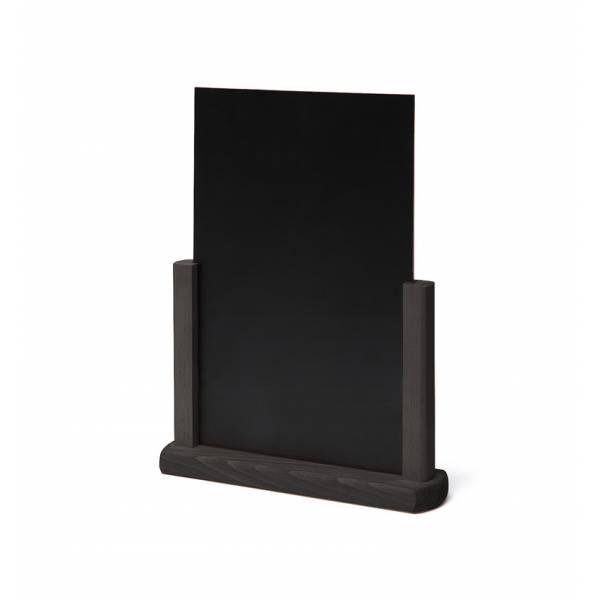 Dřevěný menu stojánek A4 černý
