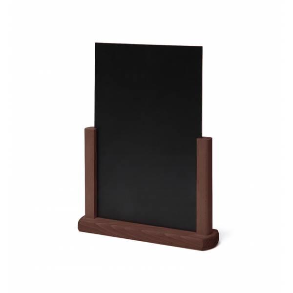 Dřevěný menu stojánek A4 tmavě hnědý
