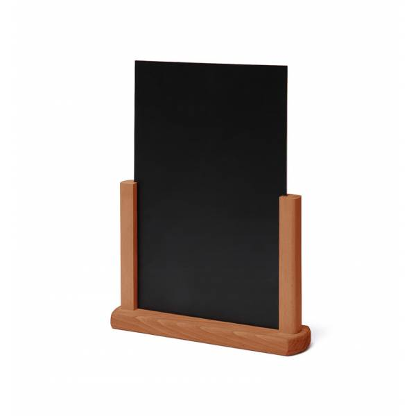 Dřevěný menu stojánek A4 světle hnědý