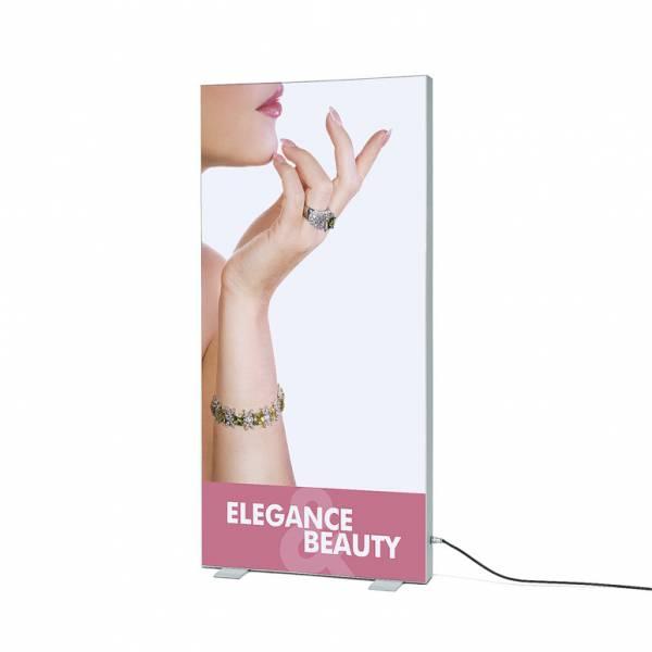 Vypínací textilní rám volně stojící, profil 120 mm, 100x200 cm, LED