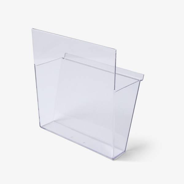 Samostatné plastové kapsy pro stojan na prospekty