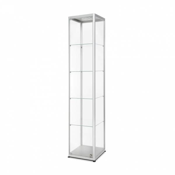 Produktová vitrína se čtvercovou podstavou
