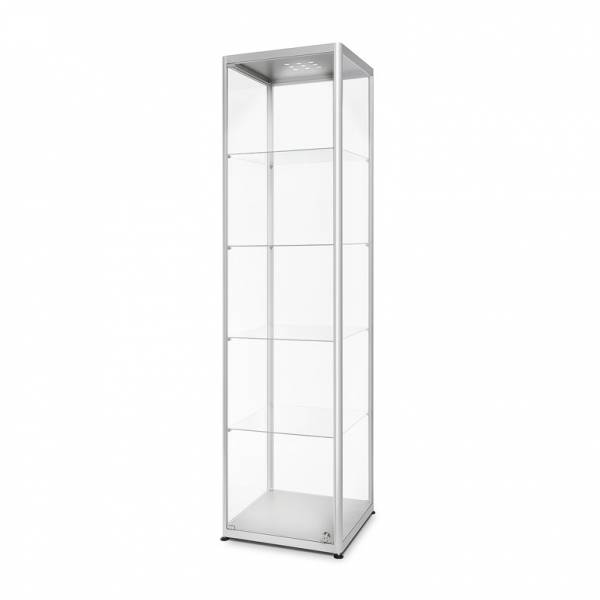 Skleněná produktová vitrína VR2 - 500x2000x500mm, LED osvětlení