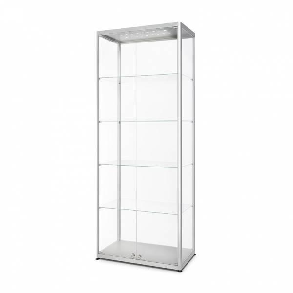 Skleněná produkt. vitrína VR2 - 800x2000x400mm, 2-křídlé dveře,LED osvětlení