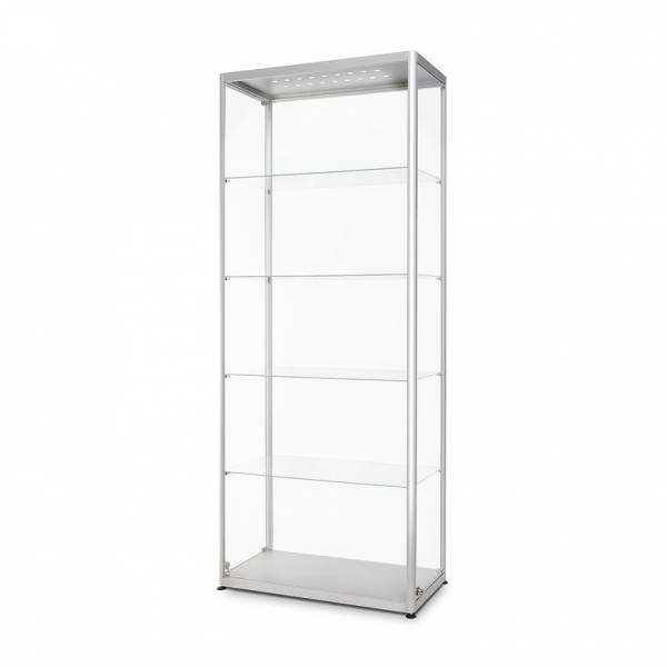 Skleněná produkt. vitrína VR2 - 800x2000x400mm, 2x protilehlé dveře,LED osvětlení